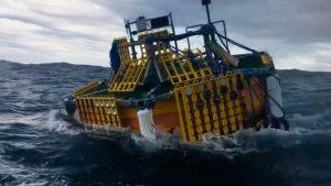 La robustez del HarsLab, plataforma flotante offshore, le permite soportar los efectos del temporal Epsilon